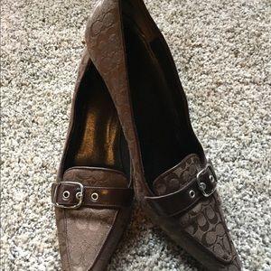 Brown coach heels
